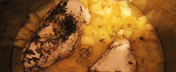 chicken with lemon and rosemary