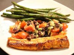 grilled mahi mahi with black bean salsa