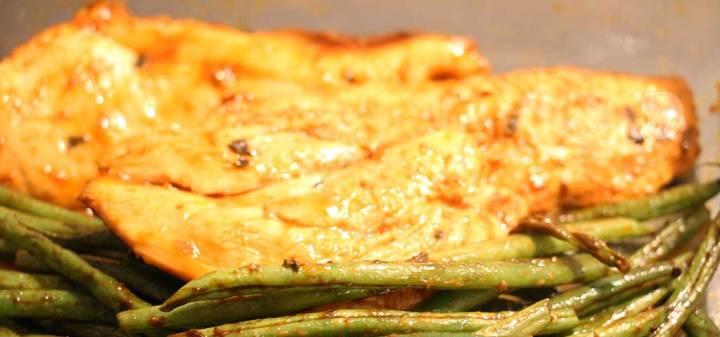 grilled chicken with tamari and orange sauce